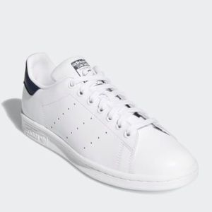 Adidas White And Black Stan Smith Shoes